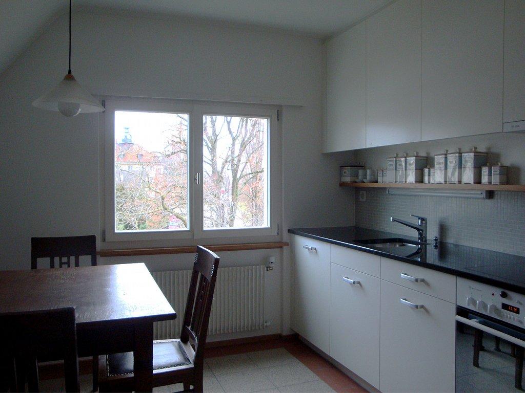 Küche mit Blick auf Schloss Horn