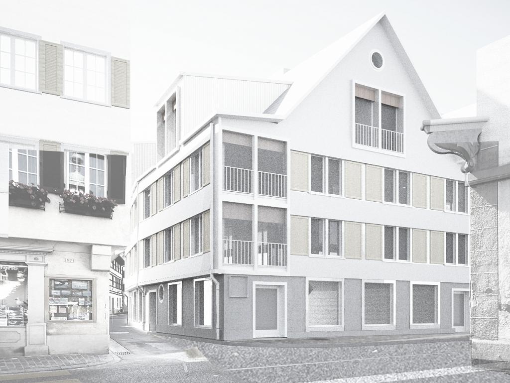 Wiederaufbau Stadthäuser Steckborn TG